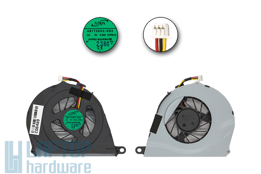 Toshiba Satellite L750, L750D gyári új laptop hűtő ventilátor (AB7705HX-GB3, CWBLA)
