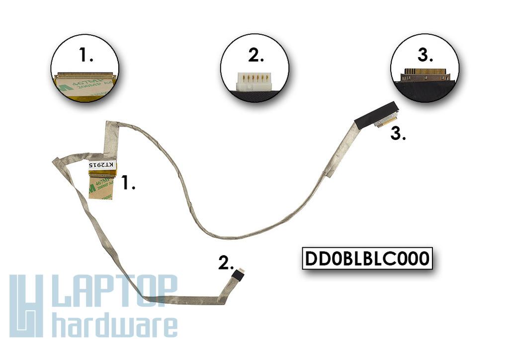 Toshiba Satellite L750 L755 gyári új laptop LCD kábel, DD0BLBLC000