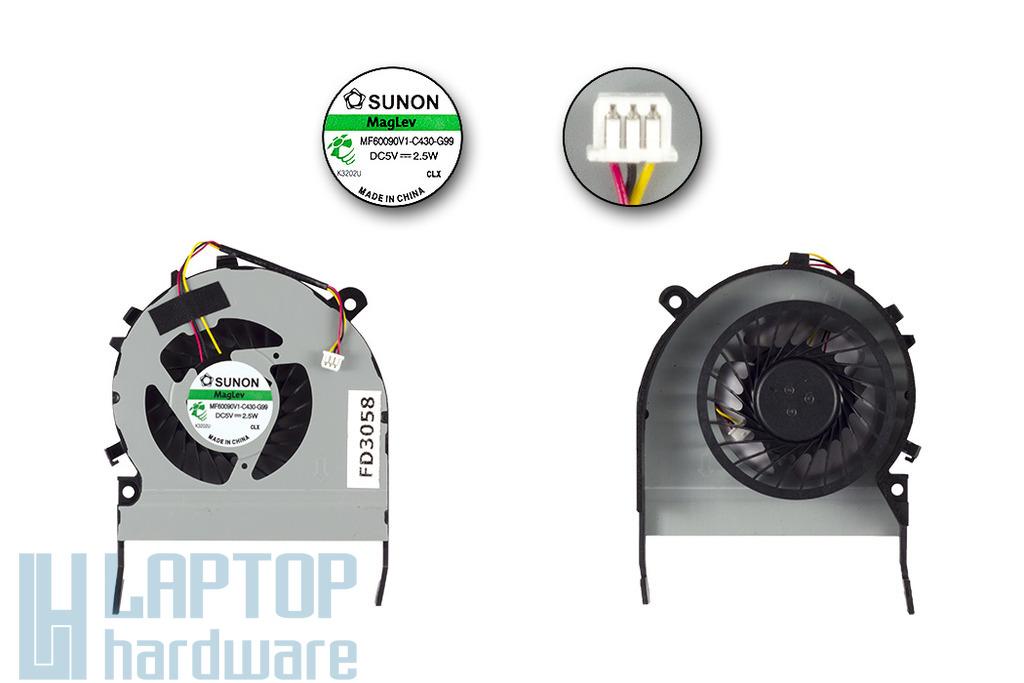 Toshiba Satellite L800 laptop hűtő ventilátor, MF60090V1-C430-G99