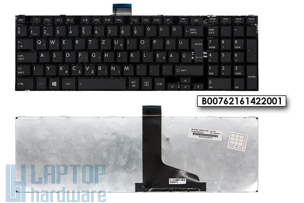 Toshiba Satellite L850, L870 magyar fekete laptop billentyűzet (Win8), H000045390