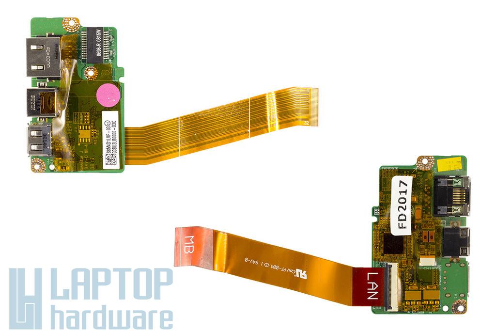 Toshiba Satellite M305, U400 laptophoz használt USB/LAN/Modem panel kábellel, 33BU2LB0000