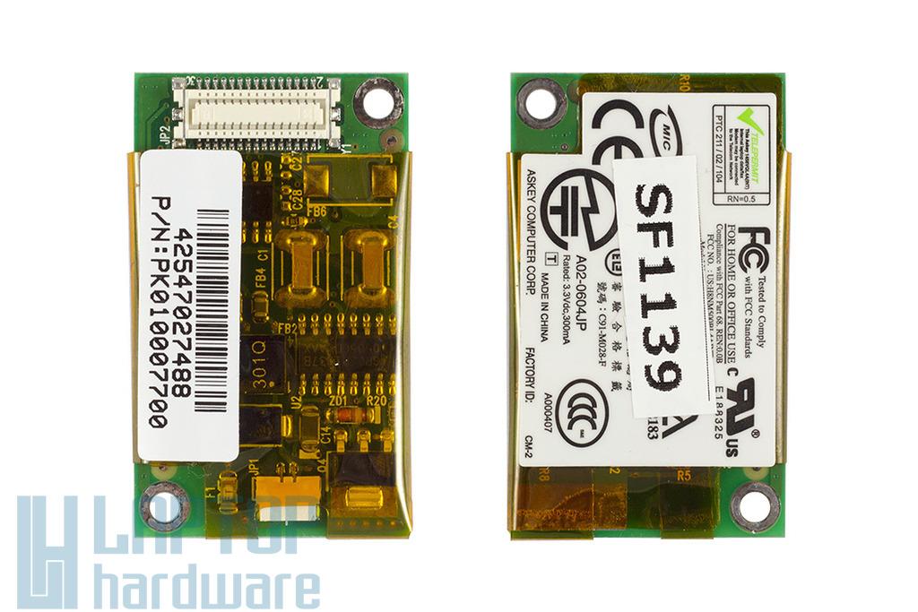 Toshiba Satellite M30X, M35X laptophoz használt modem kártya (A02-0604JP)