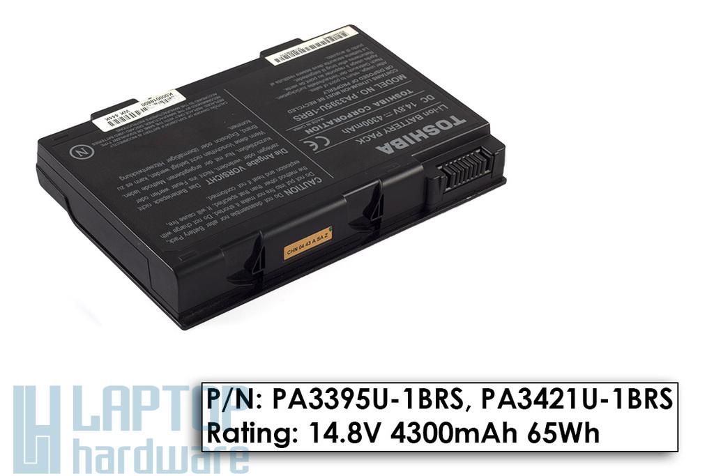 Toshiba Satellite M30X, M35X, M40X gyári használt 50%-os 8 cellás laptop akku/akkumulátor (PA3395U-1BRS)