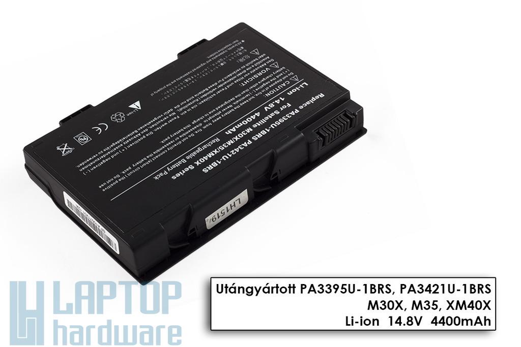 Toshiba Satellite M30X, M35X, M40X helyettesítő új 8 cellás laptop akku/akkumulátor (PA3395U-1BAS)