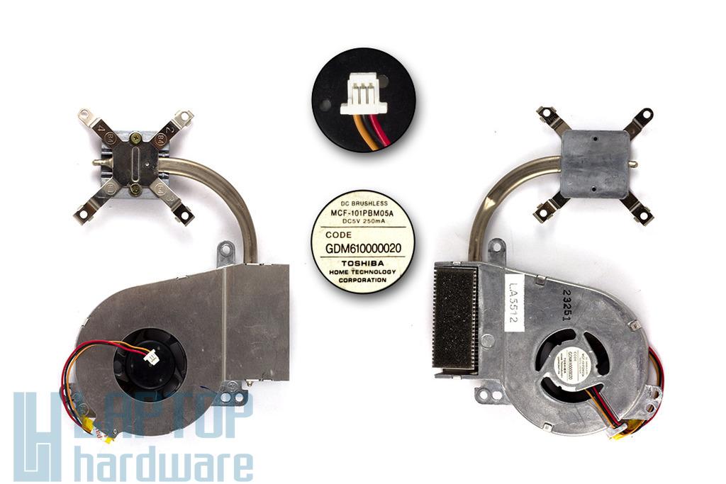 Toshiba Satellite Pro 6000, 6100 használt laptop hűtő ventilátor (GDM610000020)