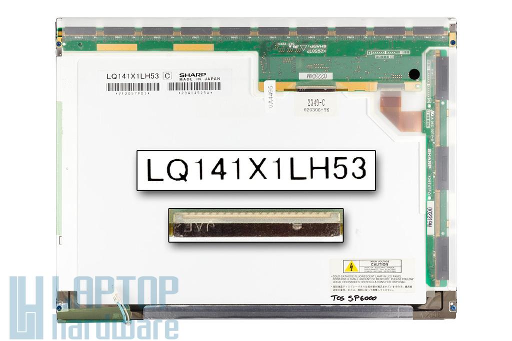 Toshiba Satellite Pro 6000, 6100 használt laptop kijelző (LQ141X1LH53)