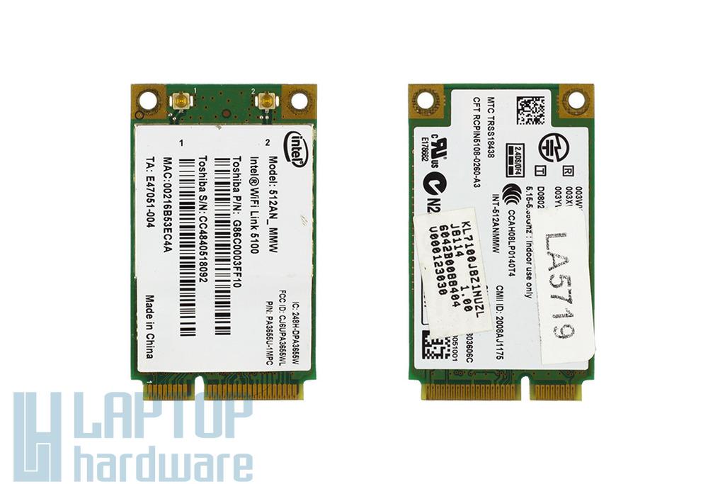 Toshiba Satellite Pro A300, A305 laptophoz WiFi kártya (6042B0088404)
