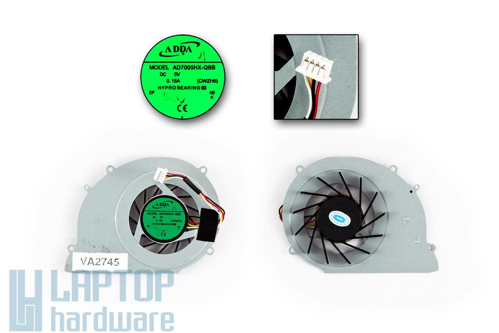 Toshiba Satellite T130, T135, Acer Ferrari One 200 gyári új laptop hűtő ventilátor (AD7005HX-QBB)