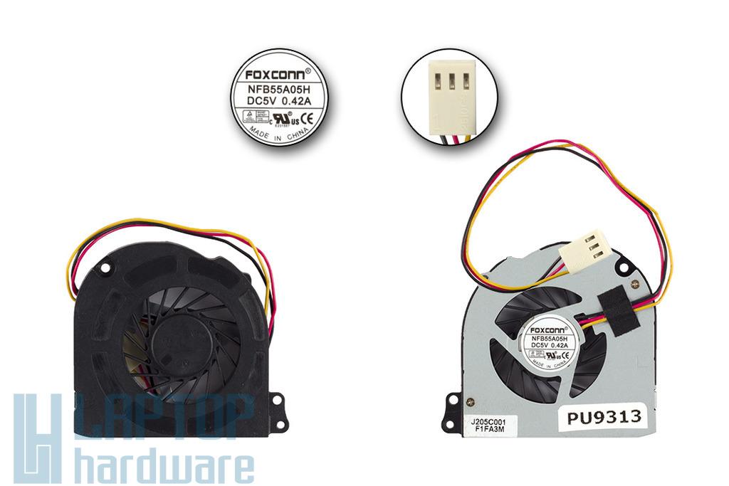 Toshiba Satellite T230, T235, Compaq 100eu gyári új laptop hűtő ventilátor (NFB55A05H)