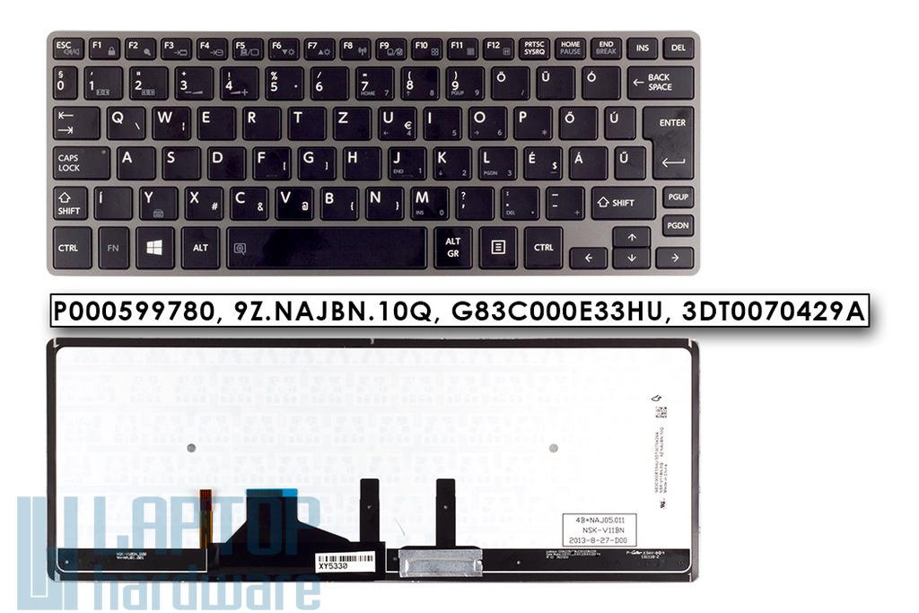 Toshiba Satellite Z30 sorozatú laptophoz gyári új magyar háttér-világításos billentyűzet (P000599780)