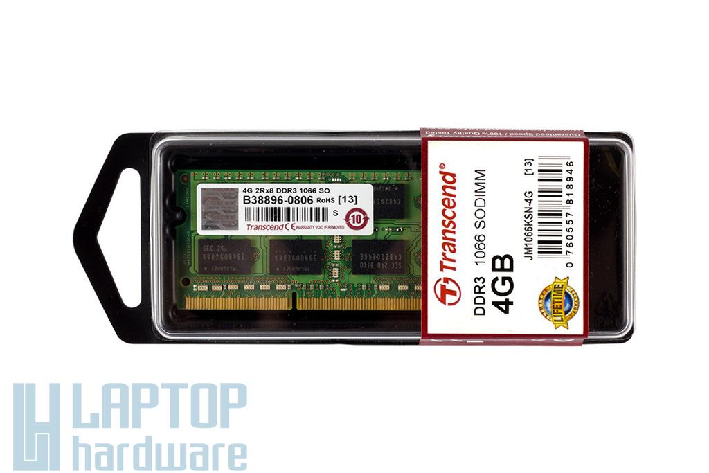 4GB DDR3 1066MHz gyári új laptop memória