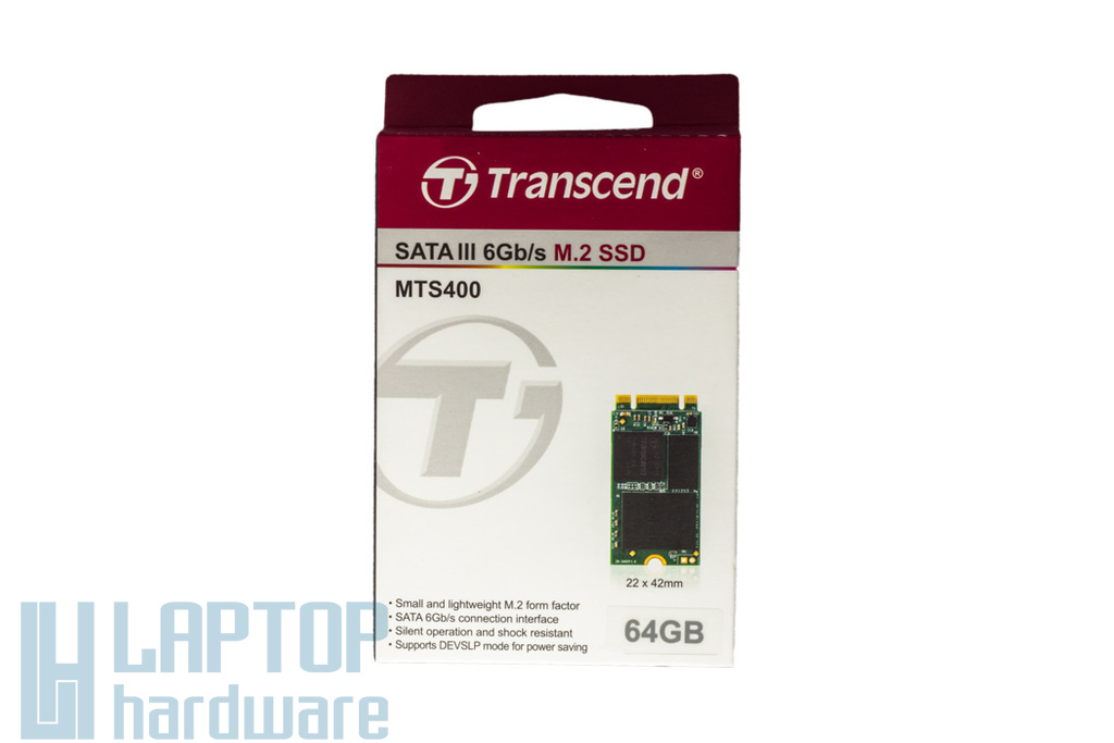 Transcend 64GB M.2 SATA (NGFF) SSD kártya, TS64GMTS400