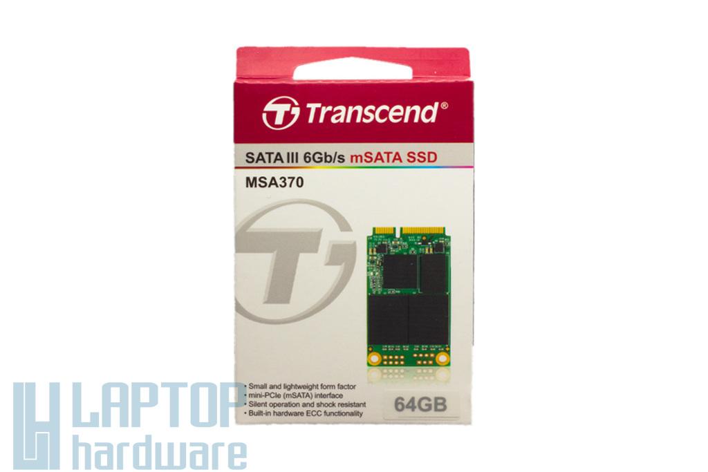 Transcend 64GB mSATA SSD kártya, TS64GMSA370
