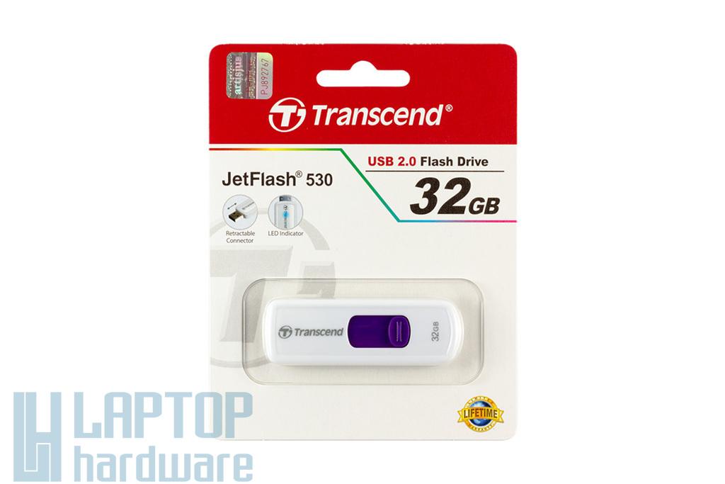 Transcend JetFlash 530 (USB 2.0) 32GB fehér pendrive (TS32GJF530)