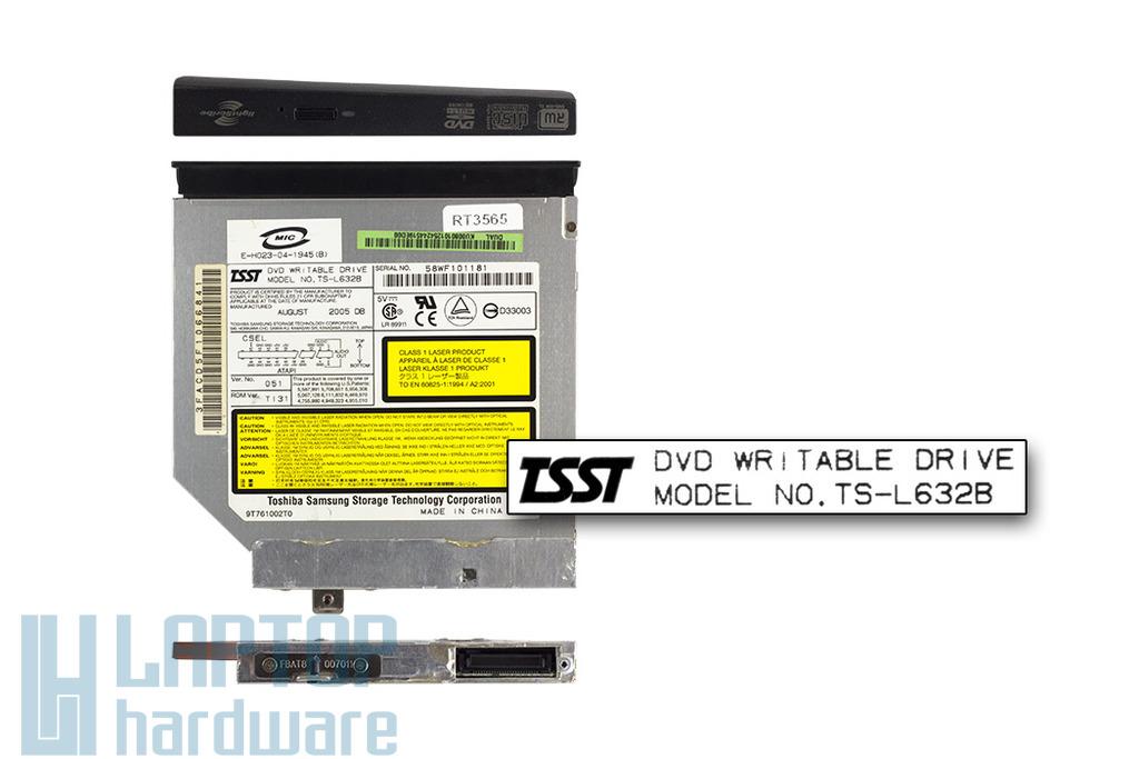 TSST TS-L632B használt IDE laptop DVD-író HP Pavilion DV6500 sorozathoz