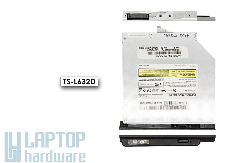 TSST TS-L632D használt IDE (PATA) laptop DVD író előlappal