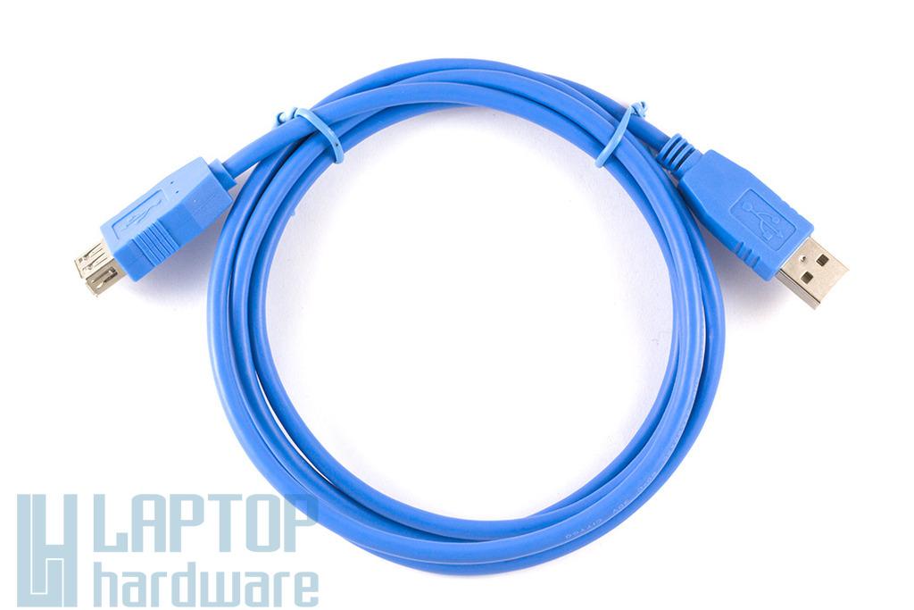 USB A apa - A anya 1.5m kék hosszabbító kábel