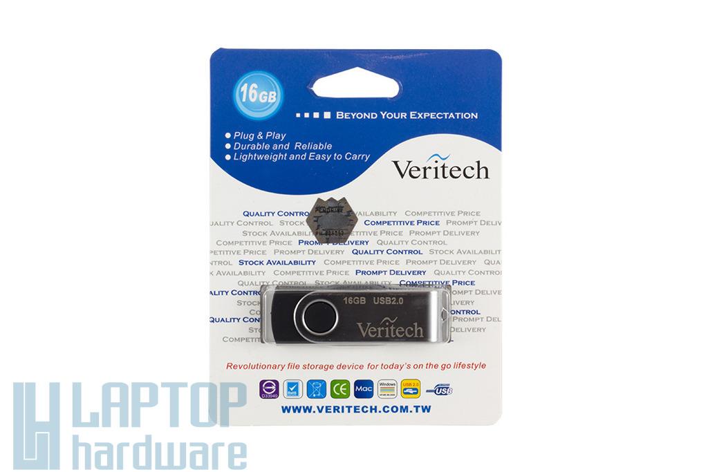 Veritech V312, 16GB ezüst-fekete pendrive (VER V312-16GB-RBK)