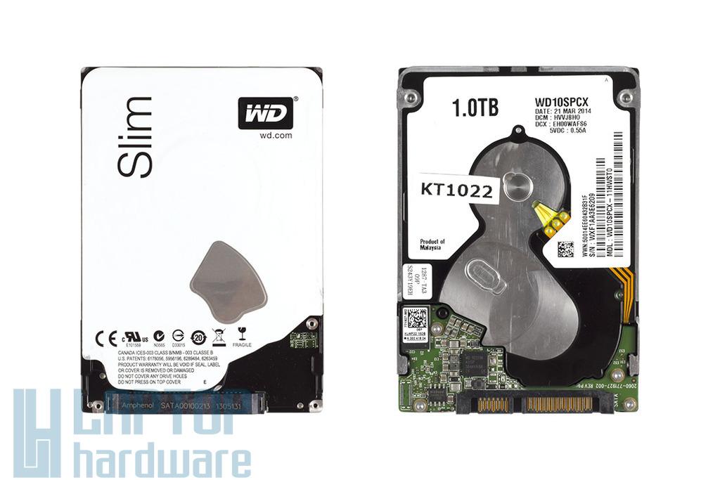 1TB 5400RPM 2,5'' SATA (6Gbit/s) (8MB cache) gyári új laptop winchester, HDD (7mm vékony)