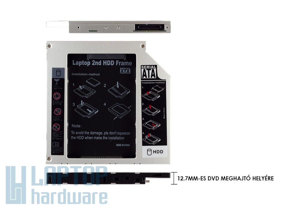 Winchester beépítő keret 12.7mm-es DVD meghajtó helyére IDE / PATA külső- és SATA belső csatlakozóval