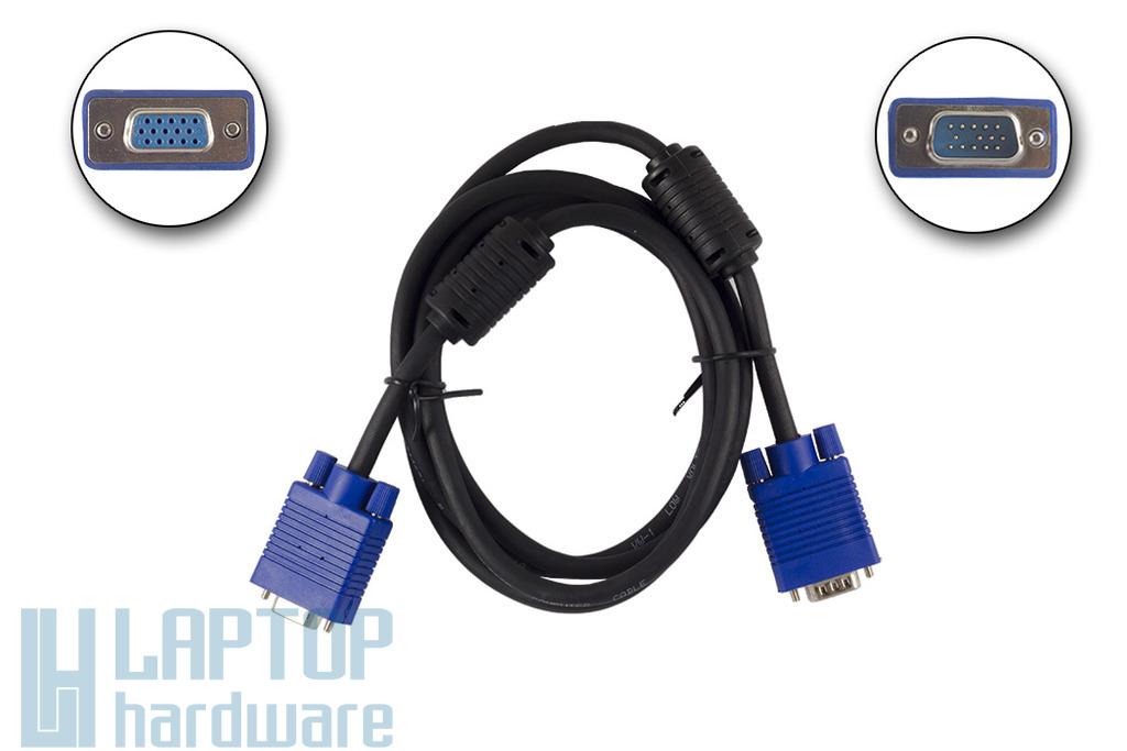 Wiretek 1,8m-es VGA monitor hosszabbító kábel apa/anya, PV11E