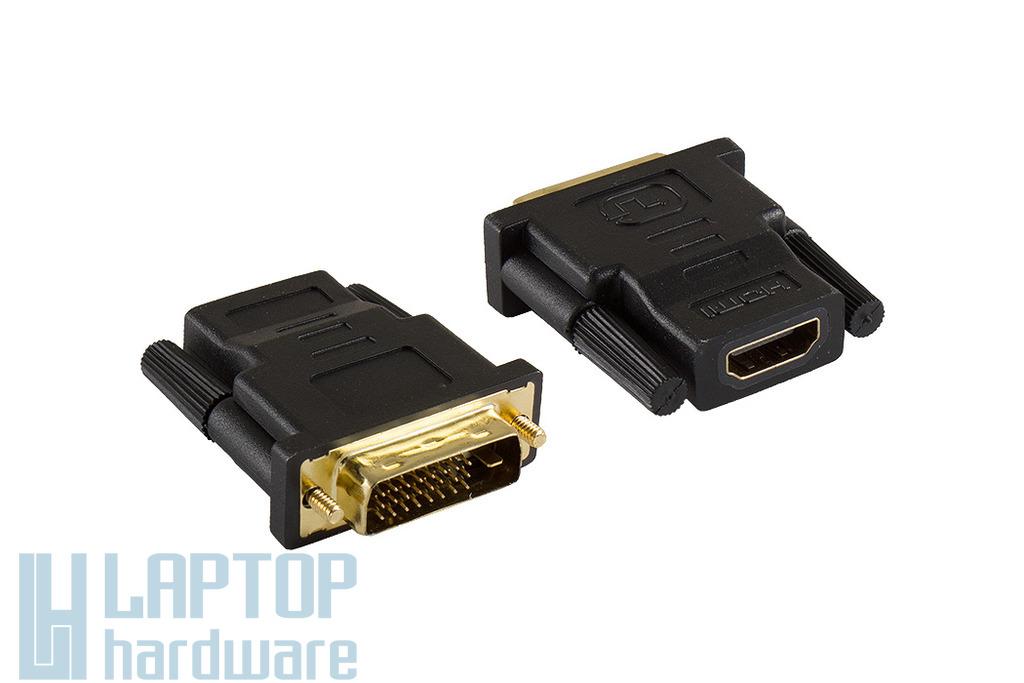 Wiretek DVI-D (apa) - HDMI (anya) átalakító (WH018)