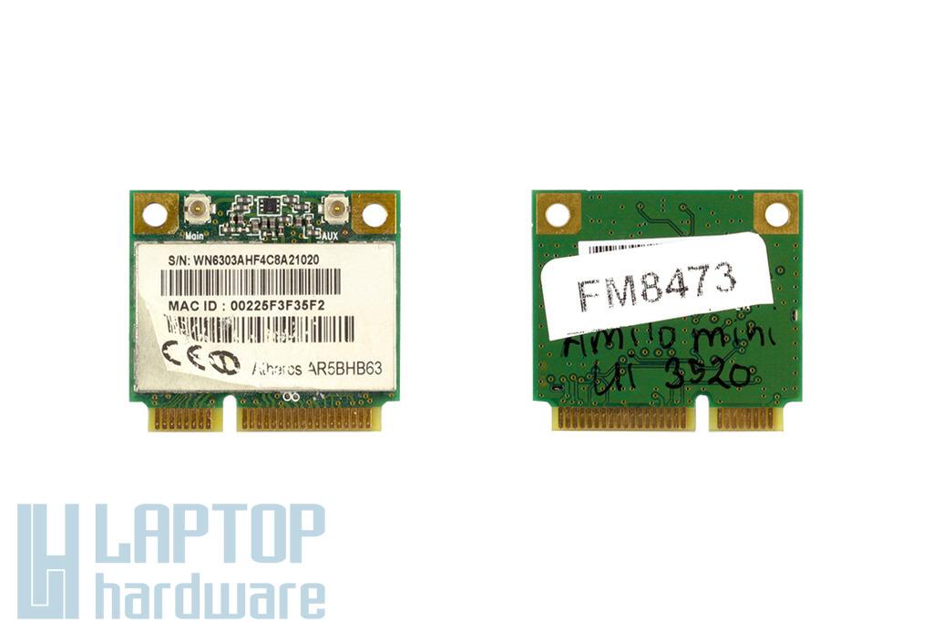 WN6303A  F4 használt Mini PCI-e (half) laptop WiFi kártya (WN6303AH-F4 , AR5BHB63)